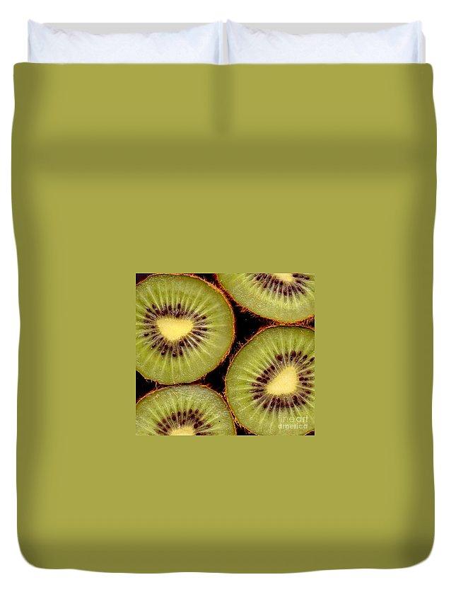 Kiwis Duvet Cover featuring the photograph 4 Kiwi by Nancy Mueller