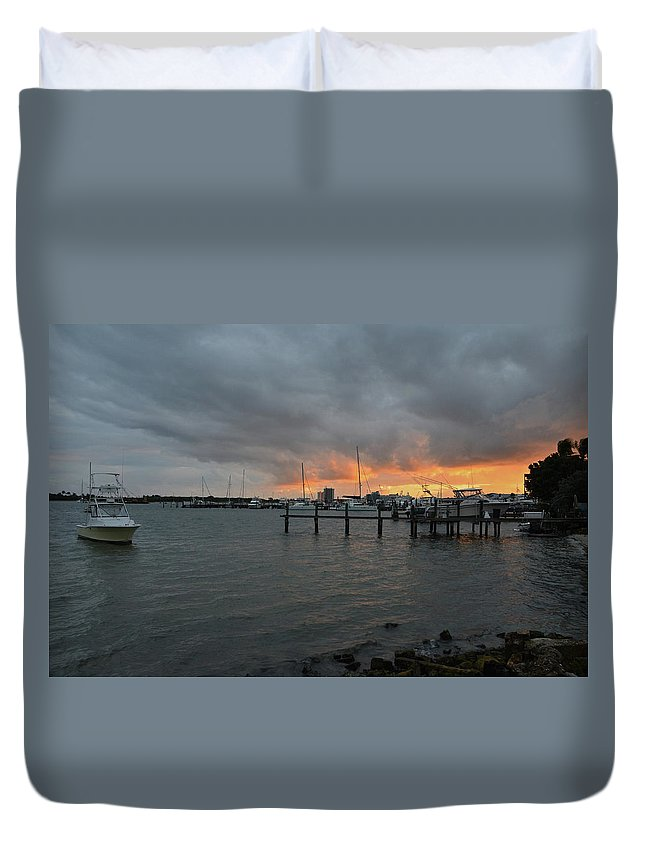 Lake Worth Duvet Cover featuring the photograph 4-lake Worth by Joseph Keane