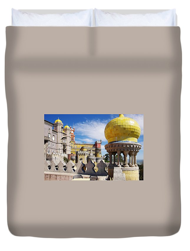 Arabian Duvet Cover featuring the photograph Pena Palace by Carlos Caetano
