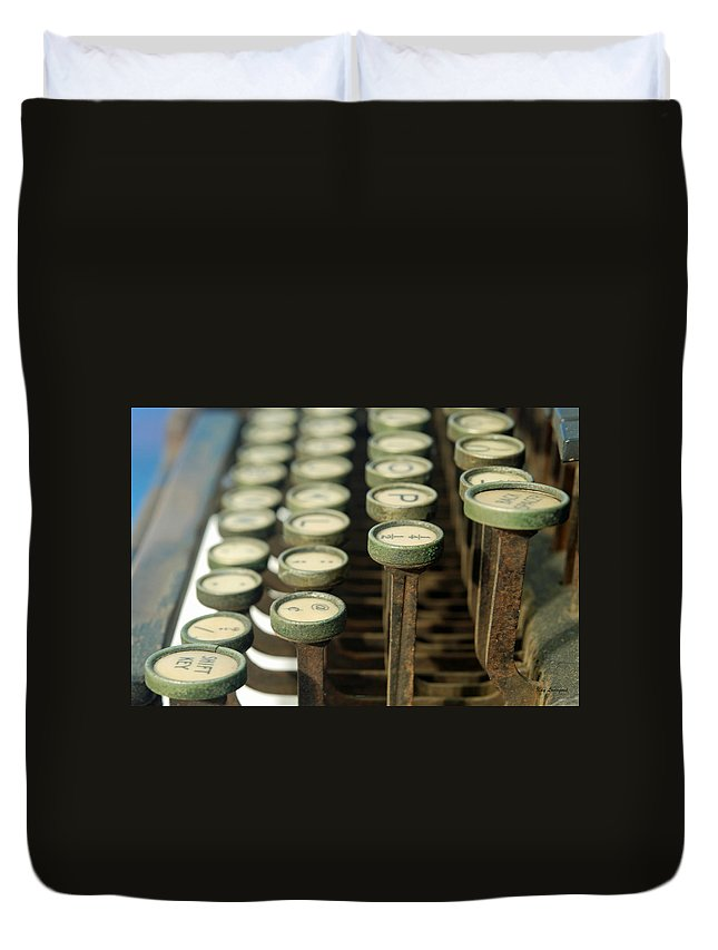 Typewriter Duvet Cover featuring the photograph Remington 11 Detail by Kay Lovingood
