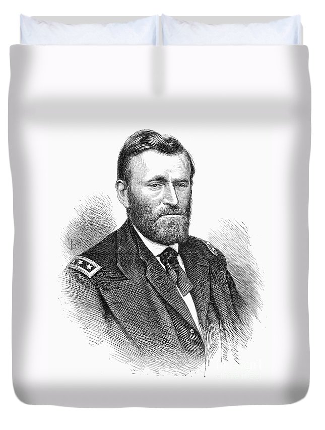 1868 Duvet Cover featuring the photograph Ulysses S. Grant by Granger