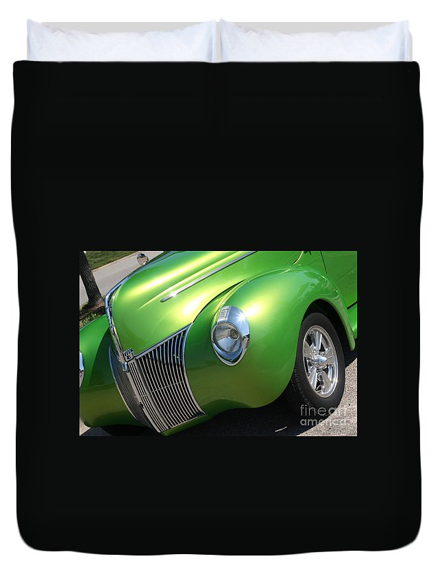 1940 Duvet Cover featuring the photograph 40 Ford - Front Driver Angle-8665 by Gary Gingrich Galleries