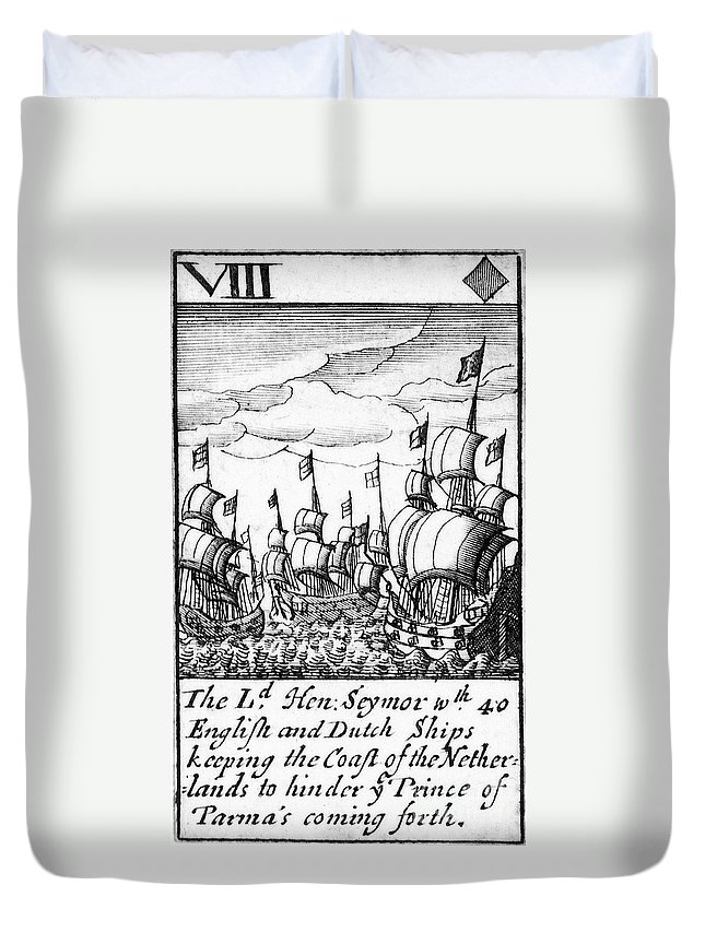 1588 Duvet Cover featuring the photograph Spanish Armada, 1588 by Granger