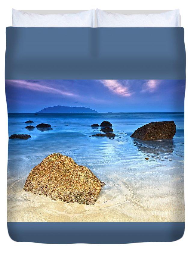 Sunrise Duvet Cover featuring the photograph Sunrise by MotHaiBaPhoto Prints