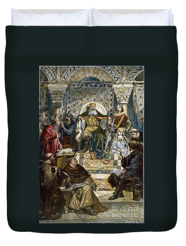 8th Century Duvet Cover featuring the photograph Charlemagne (742-814) by Granger