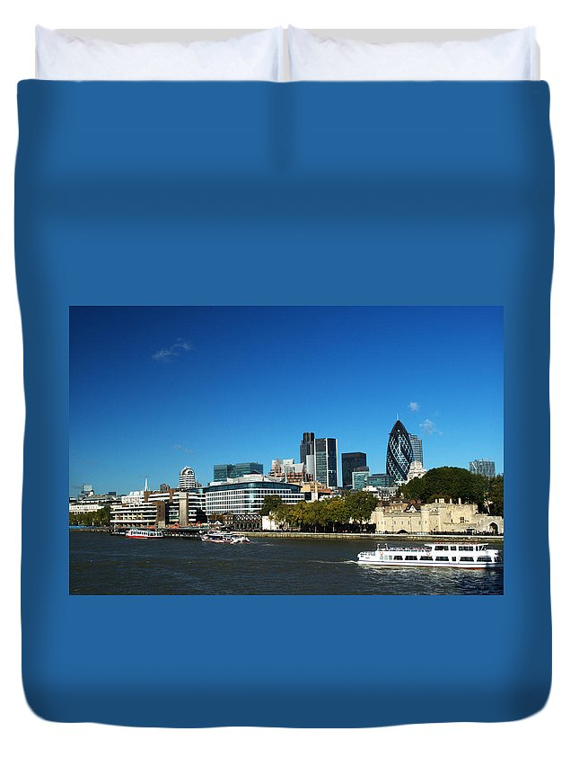 City Of London Duvet Cover featuring the photograph City Of London Skyline by Chris Day