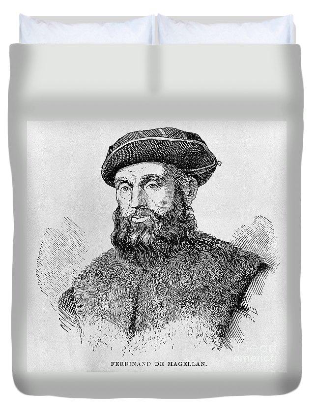 15th Century Duvet Cover featuring the photograph Ferdinand Magellan by Granger