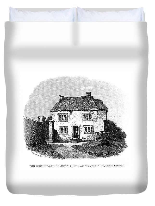 Birthplace Duvet Cover featuring the photograph John Locke (1632-1704) by Granger