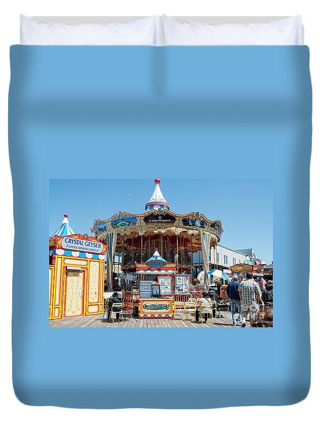 California Duvet Cover featuring the digital art San Francisco by Carol Ailles