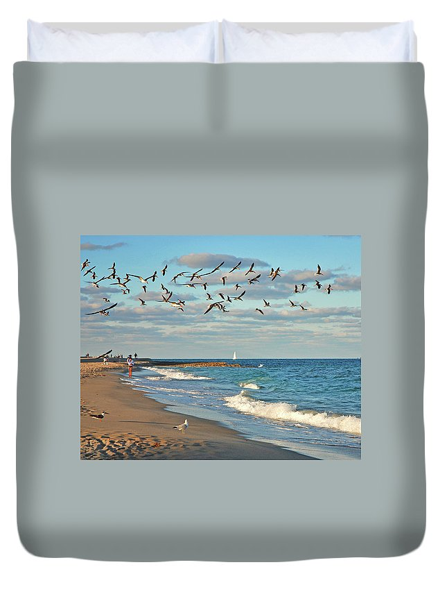 Duvet Cover featuring the photograph 5- Singer Island 8x 10 by Joseph Keane