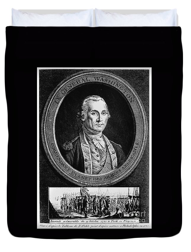 18th Century Duvet Cover featuring the photograph George Washington by Granger