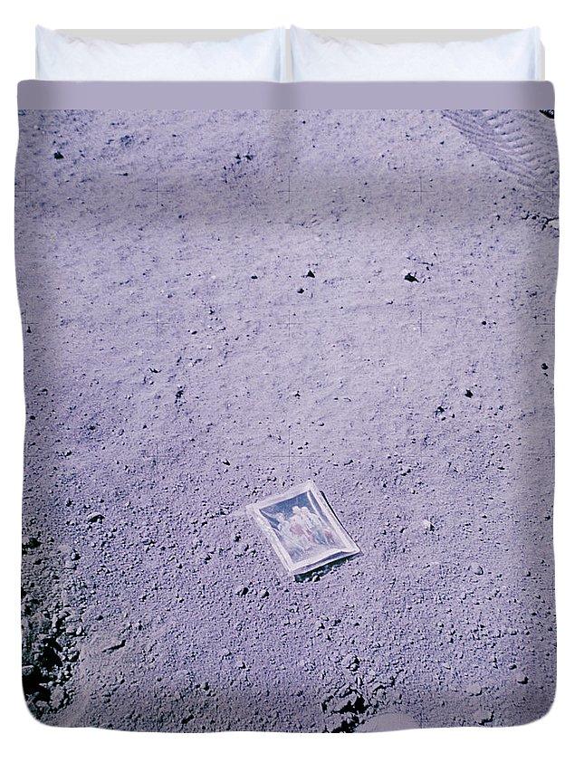 Apollo 16 Duvet Cover featuring the photograph Apollo Mission 16 by Nasa