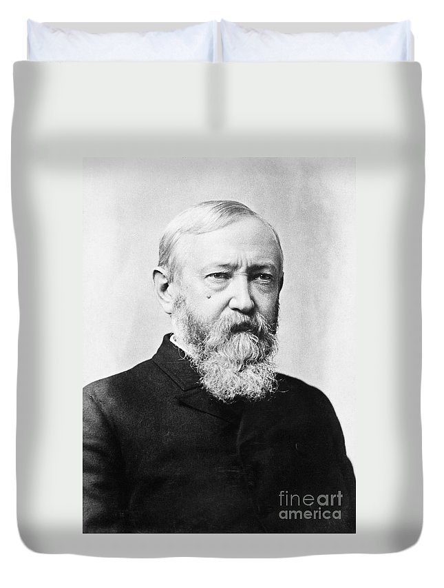 1888 Duvet Cover featuring the photograph Benjamin Harrison by Granger