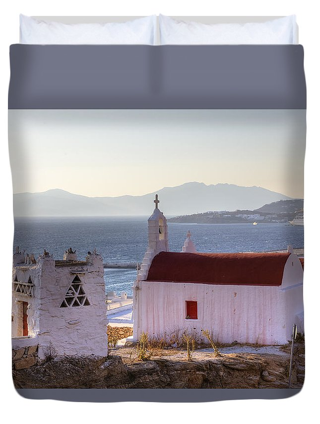 Ano Myli Duvet Cover featuring the photograph Mykonos by Joana Kruse