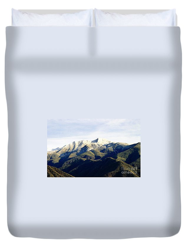 Nature Duvet Cover featuring the photograph Ojai Valley With Snow by Henrik Lehnerer