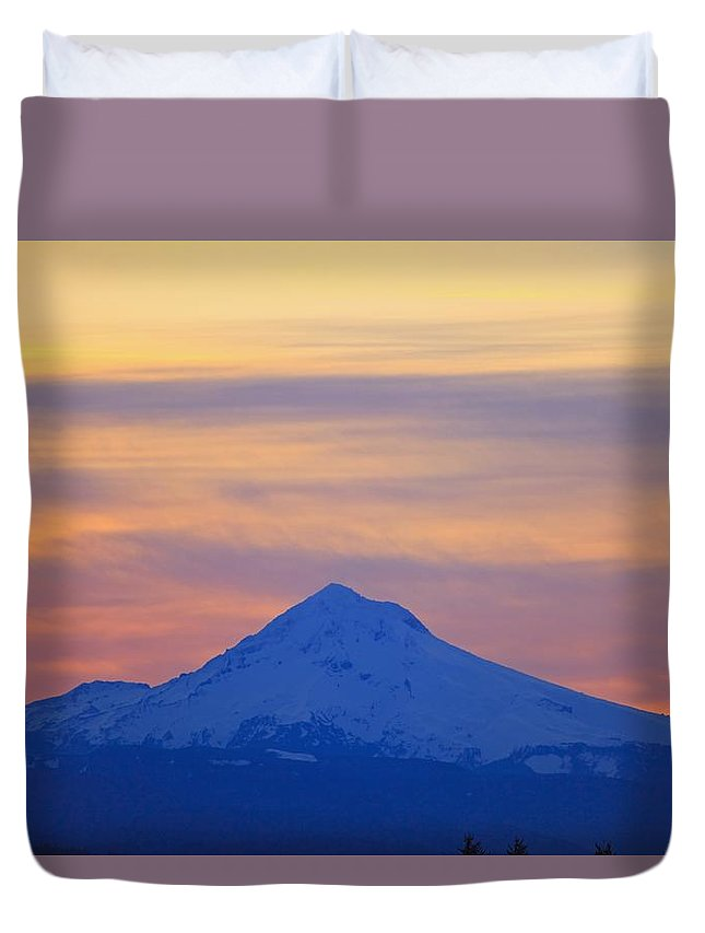 Mount Hood Duvet Cover featuring the photograph Oregon, United States Of America by Craig Tuttle