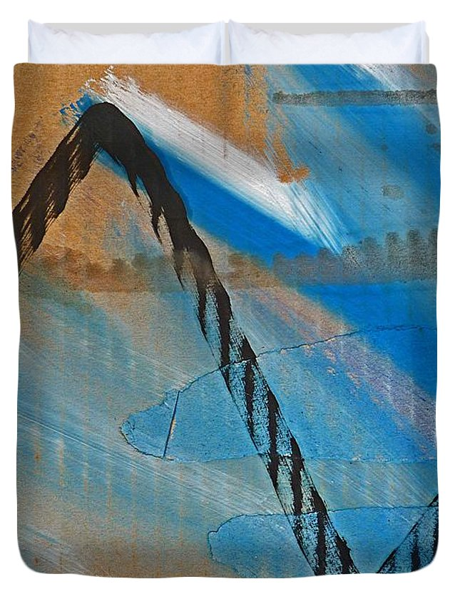 Tsunami Duvet Cover featuring the painting Tsunami by Charles Stuart