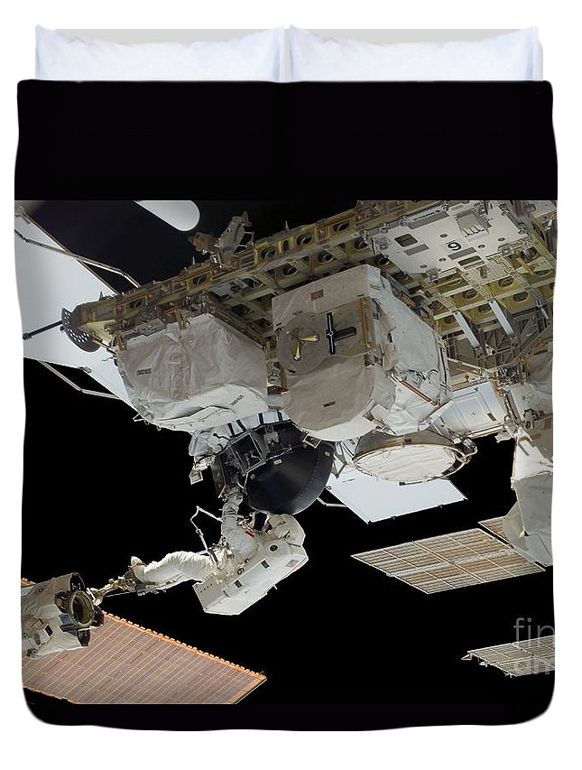Adults Only Duvet Cover featuring the photograph Astronaut Participates by Stocktrek Images
