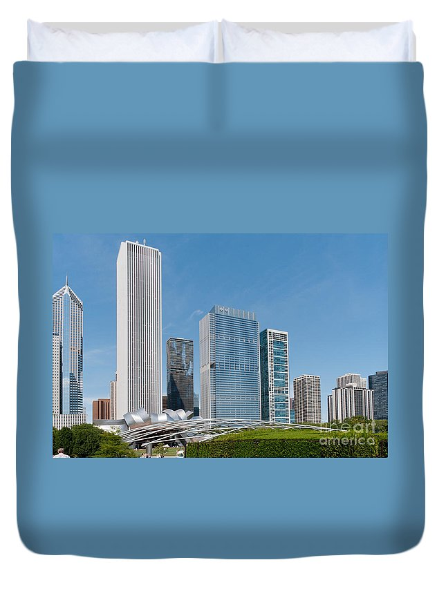 Chicago Duvet Cover featuring the digital art Chicago City Scenes by Carol Ailles