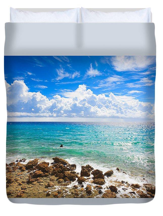 Beach Duvet Cover featuring the photograph Sea by MotHaiBaPhoto Prints