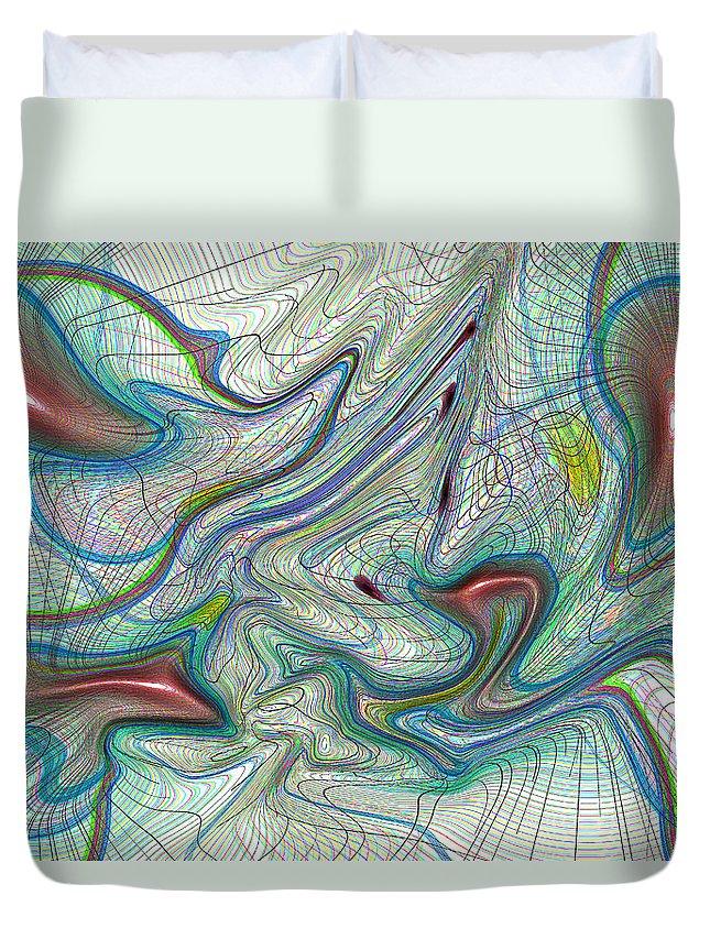 Art Duvet Cover featuring the digital art Abstract Pattern Art by David Pyatt