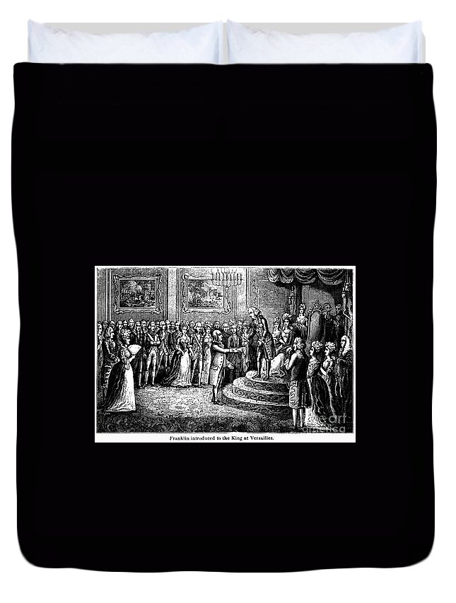 1778 Duvet Cover featuring the photograph Benjamin Franklin by Granger