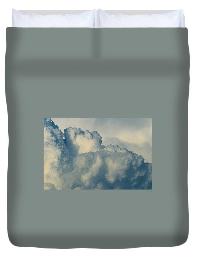 Cumulonimbus Duvet Cover featuring the photograph Cumulonimbus Clouds by One Rude Dawg Orcutt