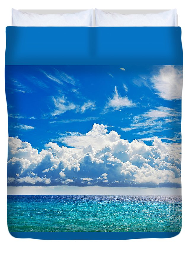 Beach Duvet Cover featuring the photograph Sea by MotHaiBaPhoto Prints
