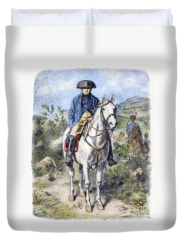 19th Century Duvet Cover featuring the photograph Napoleon I (1769-1821) by Granger