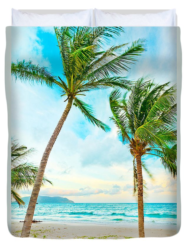 Sunrise Duvet Cover featuring the photograph Sunset by MotHaiBaPhoto Prints