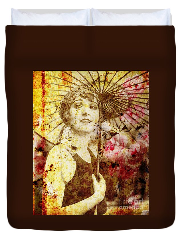 Nostalgic Seduction Duvet Cover featuring the photograph Winsome Woman by Chris Andruskiewicz