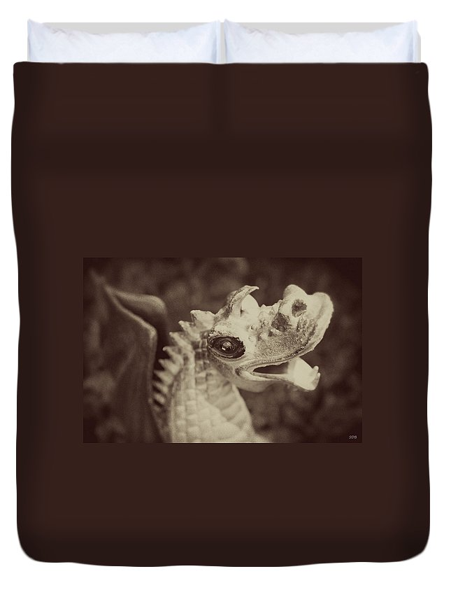 Dragon Duvet Cover featuring the photograph A Dragon's Tale - Series 2 by Southern Tradition