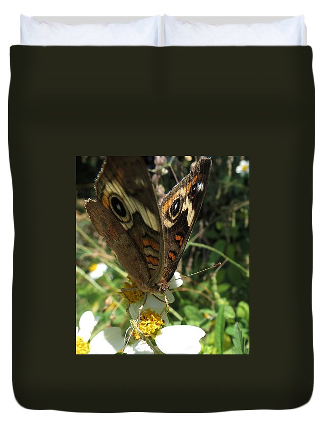 Butterfly Duvet Cover featuring the photograph A Drop Of Nectar by Kent Dunning