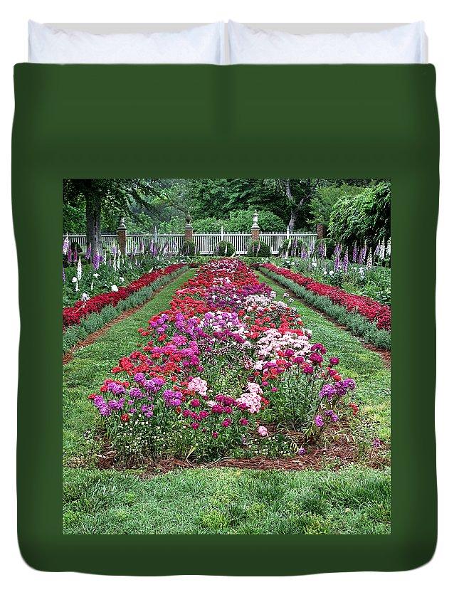 Garden Duvet Cover featuring the photograph A Formal Garden by Dave Mills