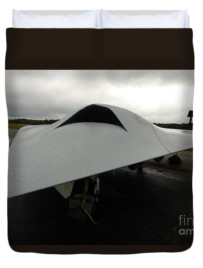 Unmanned Aerial Vehicles Duvet Cover featuring the photograph A Full Scale Joint Unmanned Combat Air by Stocktrek Images