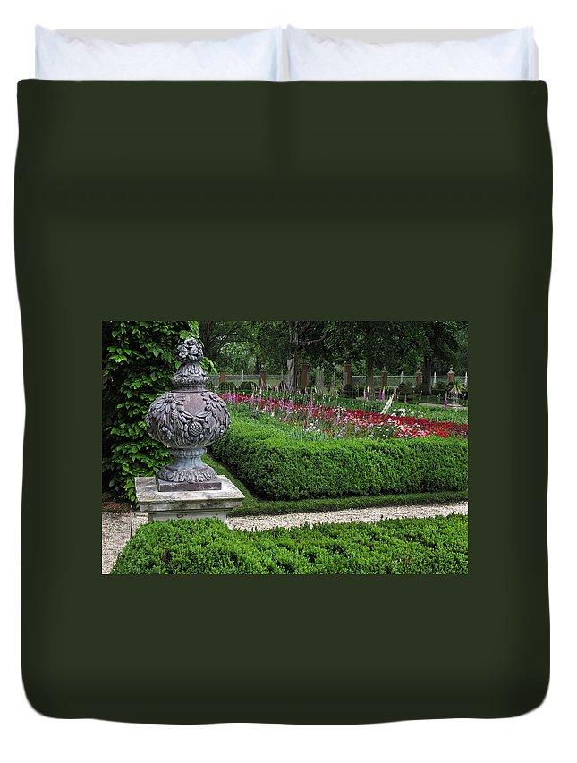 Garden Duvet Cover featuring the photograph A Garden View by Dave Mills