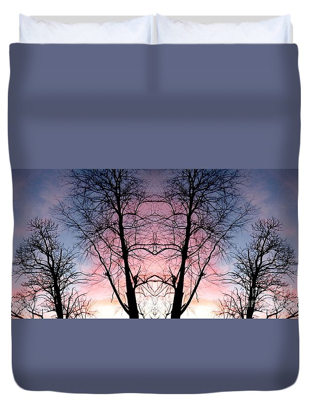 Tree Duvet Cover featuring the photograph A Gift by Amy Sorrell