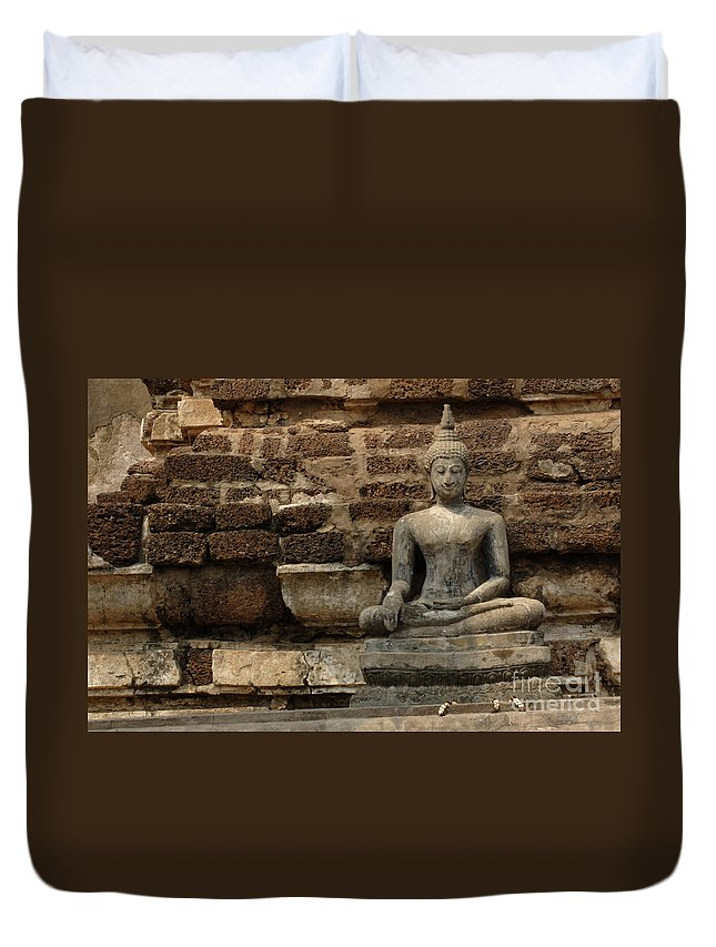 Travel Duvet Cover featuring the photograph A Little Buddha by Bob Christopher