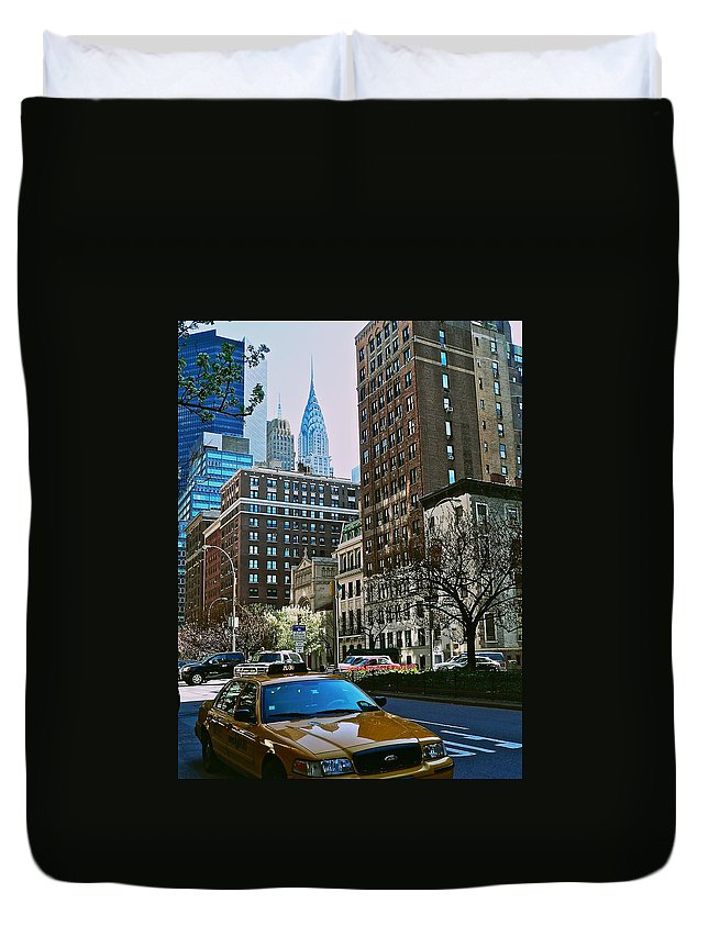 New York City Duvet Cover featuring the photograph A Little Slice Of New York by Eric Tressler