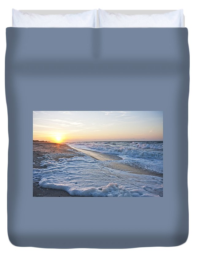 Shackleford Duvet Cover featuring the photograph A New Day by Betsy Knapp