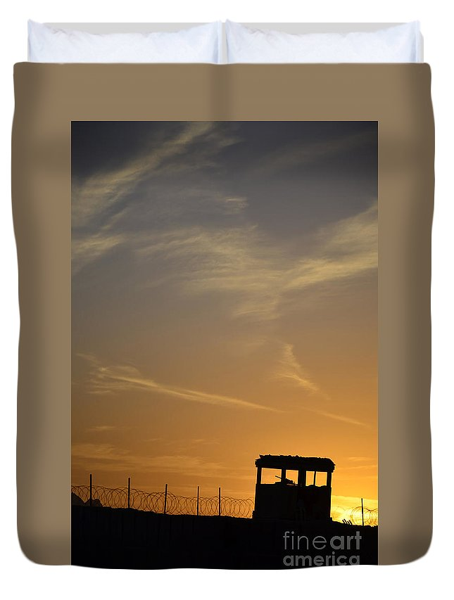 Afghanistan Duvet Cover featuring the photograph A Remote Combat Outpost On The Eastern by Stocktrek Images
