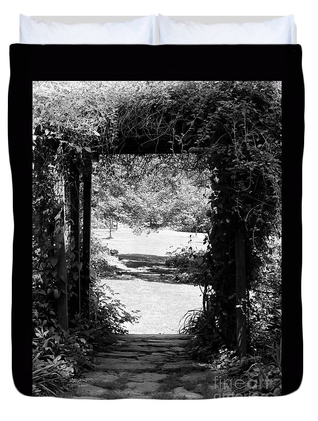 Garden Photographs Duvet Cover featuring the photograph A Walk To Remember by Art Dingo