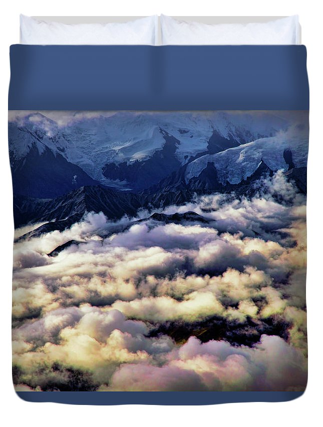 Denali National Park Duvet Cover featuring the photograph Above The Clouds by Rick Berk