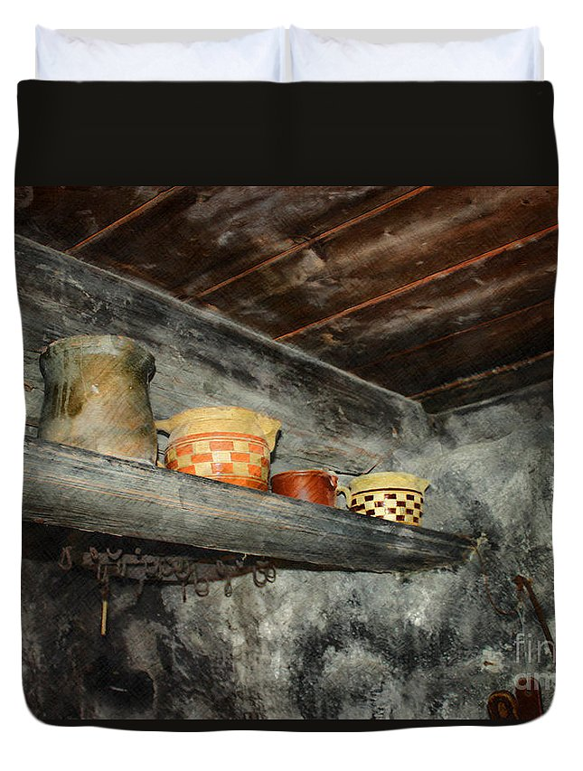 Photo Duvet Cover featuring the photograph Above The Stove by Jutta Maria Pusl