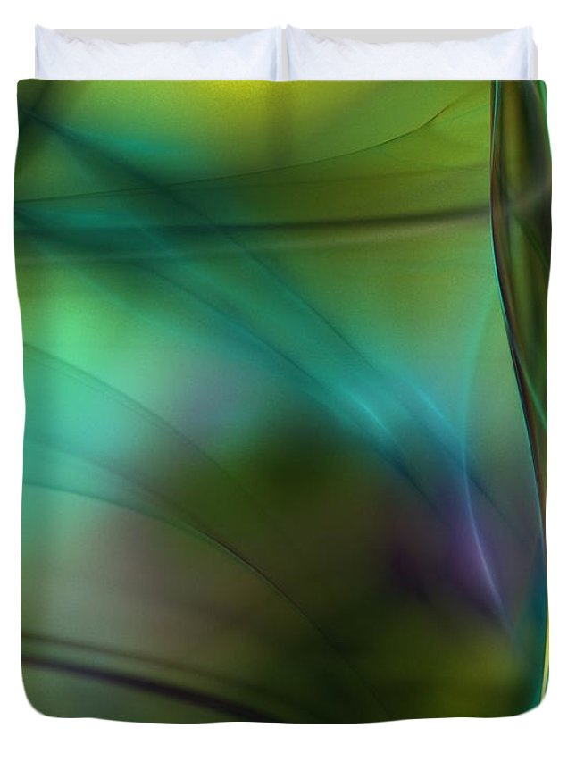 Fine Art Duvet Cover featuring the digital art Abstract 090711a by David Lane