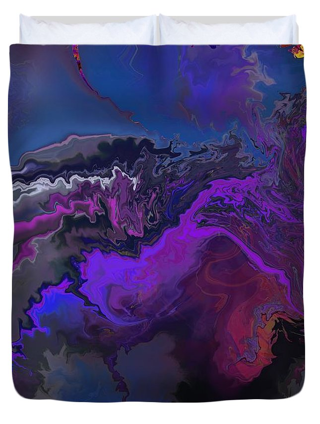 Fine Art Duvet Cover featuring the digital art Abstract 112711a by David Lane
