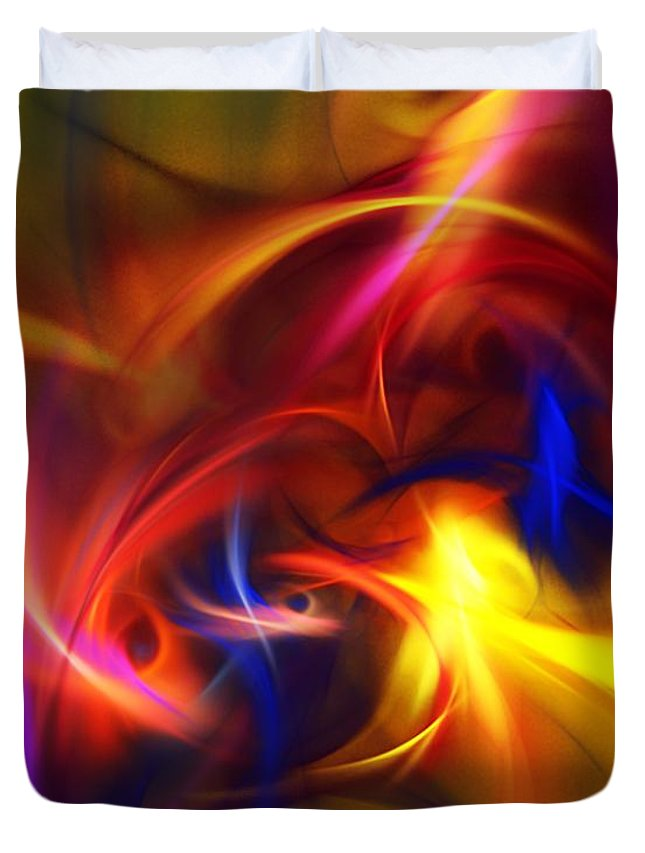 Fine Art Duvet Cover featuring the digital art abstract 112811A by David Lane