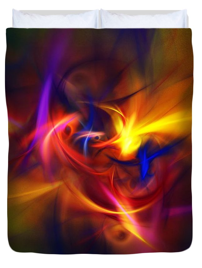 Fine Art Duvet Cover featuring the digital art Abstract 112811b by David Lane