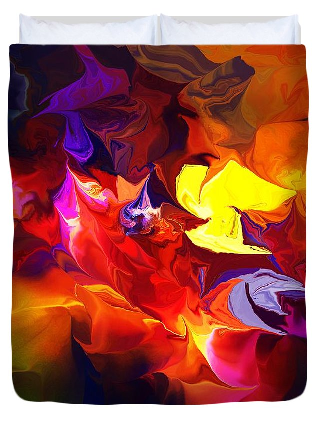 Abstract Duvet Cover featuring the digital art Abstract 120711 by David Lane