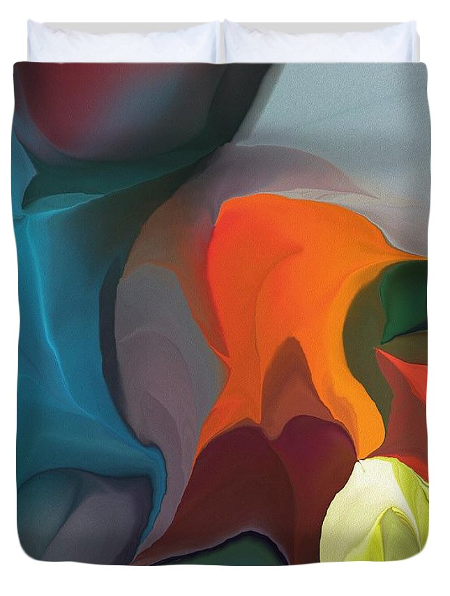 Fine Art Duvet Cover featuring the digital art Abstract 122211 by David Lane
